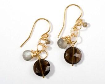 "SALE- ""Salt"" Cluster Earrings"