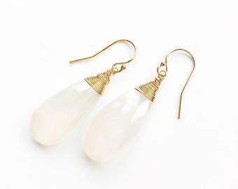 Glacial White Earrings
