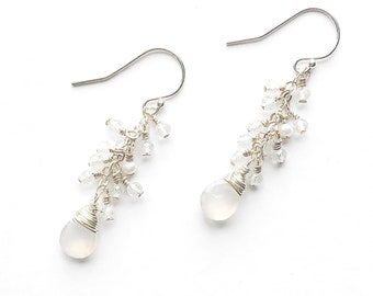 Sparkle White Earrings
