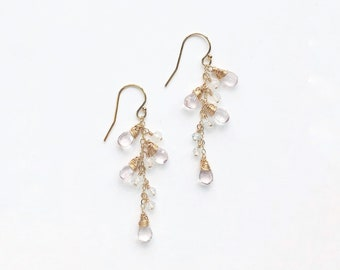 Pinkish White Drop Earrings