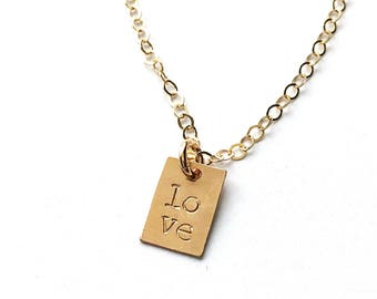 """""""Catalina"""" Stamped Love Necklace"""