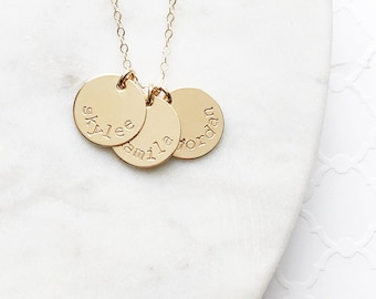 """Sandy"" Gold Name Necklace"