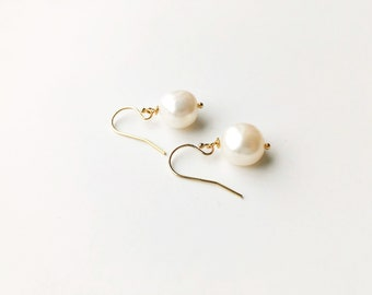 Simply White  Earrings