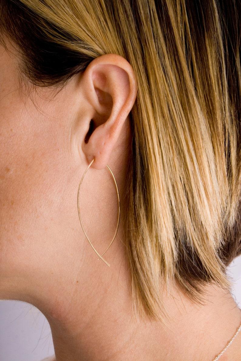Earrings Threader Hoops Earrings Minimalist Everyday Earrings Thin Hoop Earrings Minimalist Earrings Threader Earrings Hoop Earrings