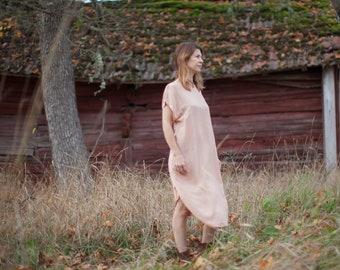 ON SALE one of a kind viscose nude dress