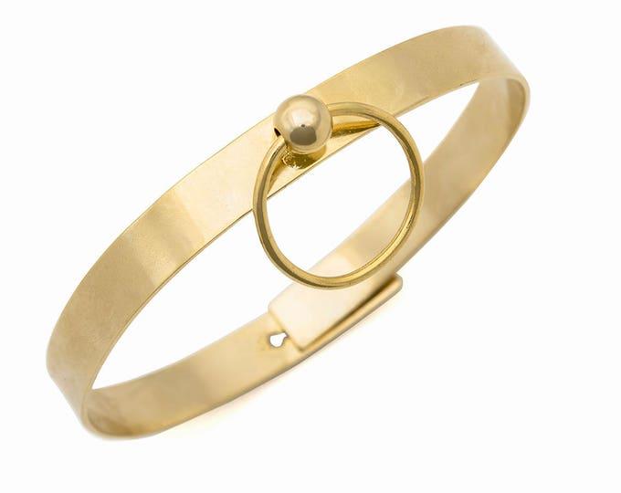 Locking Collar | Discrete BDSM Necklace | Submissive Collar Necklace | Gold Sub Choker | Sub Collar | Fetish Bondage Collar | Gift For Her
