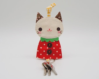 Strawberry cat key cover