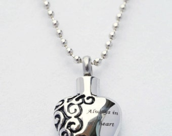 MINI CREMATION URN  on 18 Necklace with Sunflower Custom Hand Assembled... Includes Velvet Pouch and Fill Kit