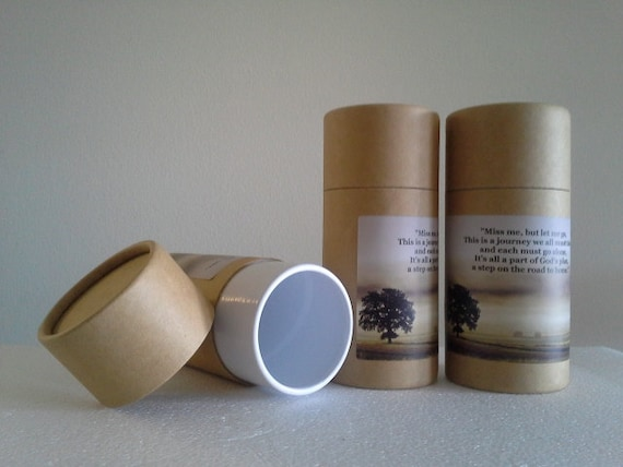 """SET OF THREE Eco-Friendly Cremation Urn Scattering Tubes w/Telescopic Lids - Natural/Biodegradable - Style """"Hallowed Ground"""""""
