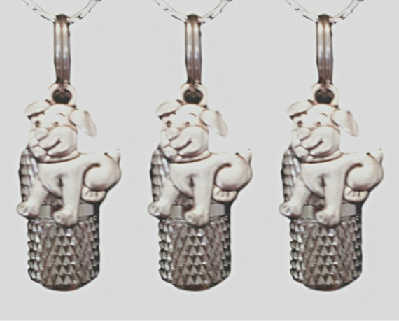 Set of THREE Faceted Mini Pet Cremation Urns on Curb Chain Necklaces with Puppy Dog - Hand Assembled - Includes Velvet Pouches and Fill Kit