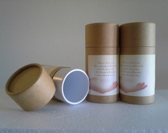 "SET OF THREE Eco-Friendly Cremation Urn Scattering Tubes w/Telescopic Lids - Natural/Biodegradable - Style ""Essence"""