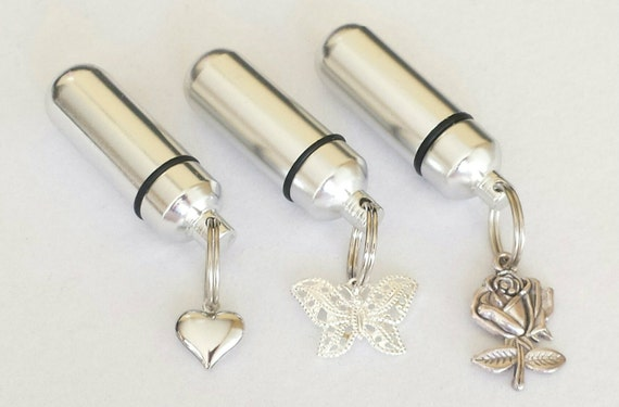 CREMATION URN TRIO of Rose/Heart/Butterfly -  Special Set -  3  Urns with  Velvet Pouches & Fill Kit