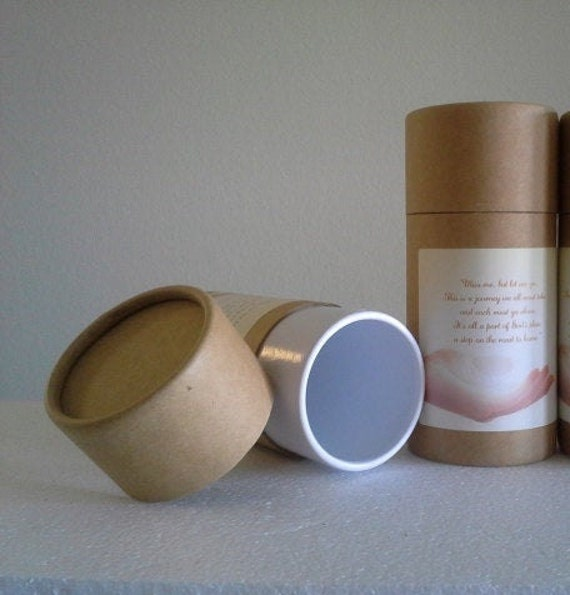 """ONE Eco-Friendly Cremation Urn Scattering Tube w/Telescopic Lid - Natural/Biodegradable - Style """"Essence"""""""