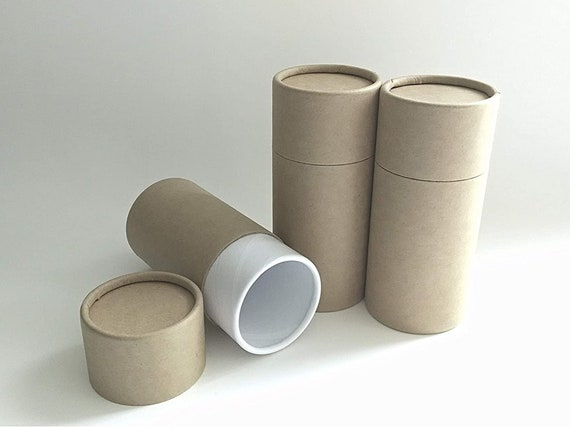 """SET OF THREE Eco-Friendly Cremation Urn Scattering Tubes w/Telescopic Lids - Natural/Biodegradable - Style """"Blank"""""""