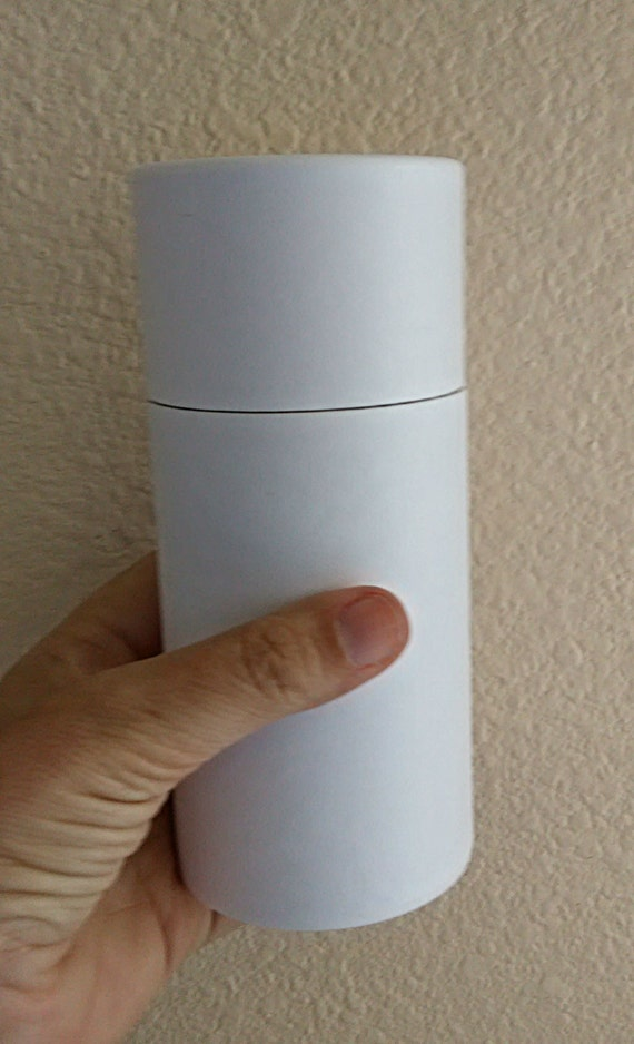 ONE Eco-Friendly Cremation Urn Scattering Tube w/Telescopic Lid - Biodegradable - Style: Serene White/Blank
