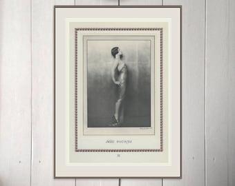 Miss Pounds, Flapper, Art Deco, New Vintage Monochrome Portrait in Photogravure by Hugh Cecil, 1926, Book of Beauty