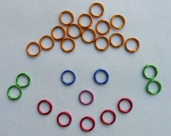 Ten 4mm Jump Rings--Soldered Shut