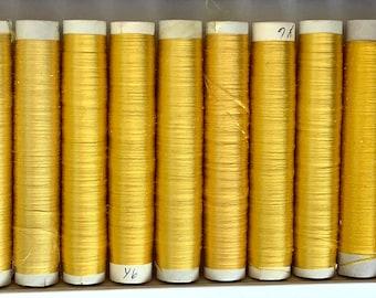 Japanese Flat Silk: Yellow Set of 18 Tubes, 60 meters each