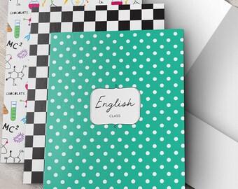 School Pocket Folder, Back to School, Personalized, School Supplies, School