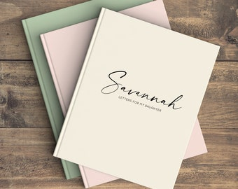 Journal, Notebook, Guest Book, Personalized, Graduation, Baby Shower, Pregnancy Journal, Baby Journal, Solid Cover Design