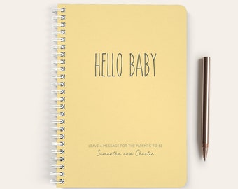 Baby Shower Guest Book, Advice and Wishes, Spiral Notebook, Guest Book, Small Notebook, Personalized, Baby Gift, Baby Shower, Advice