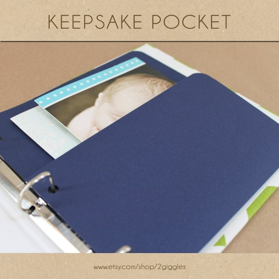 keepsake album pocket navy include in your two giggles etsy