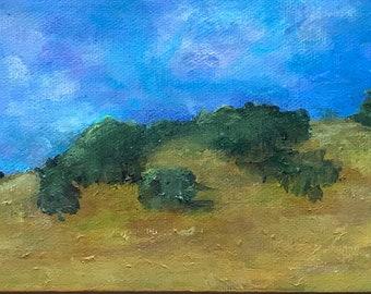 Sonoma Hillside, original acrylic painting