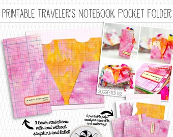 Printable Traveler's Notebook Pocket Folder with scripture verse - Standard sized Midori TN dashboard for bible journaling or bullet journal