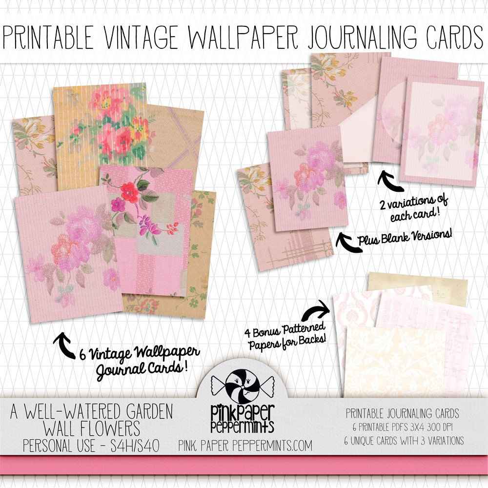 printable vintage wallpaper journaling cards bible | etsy