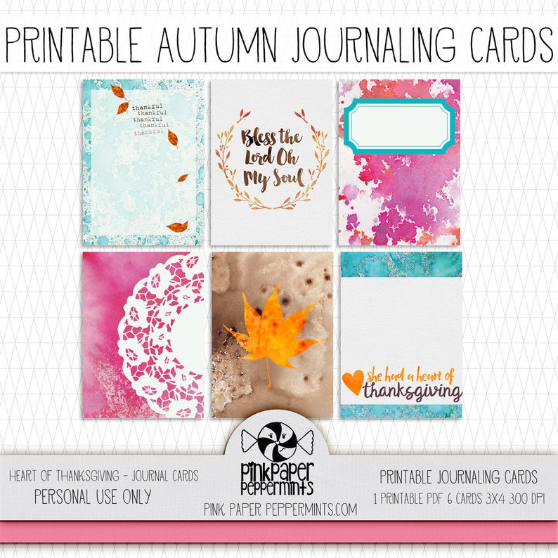 photograph about Printable Journaling Cards called Printable Bible Journaling Thanksgiving Playing cards - with scripture for Graude Publications - Prayer Journaling - Pocket Sping - Junk Magazines