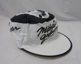 1505665bafeb7 Vintage MICHAEL JACKSON 80 s Rock Concert THRILLER Tour Souvenir Painters  Cotton Cap Floppy Hat
