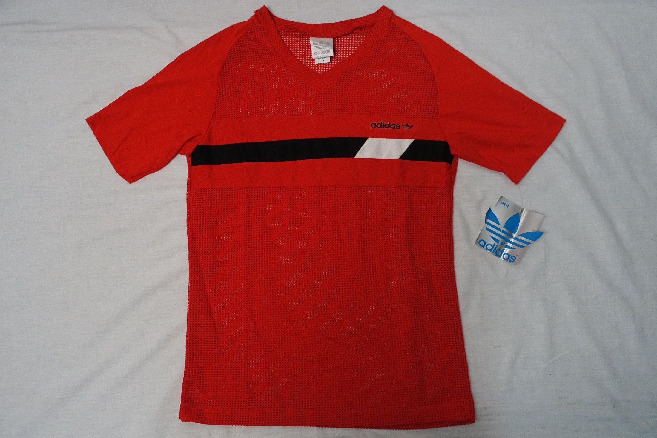 07fd9d35d Vintage ADIDAS TREFOIL Logo 80's Top Mesh Shirt Running | Etsy