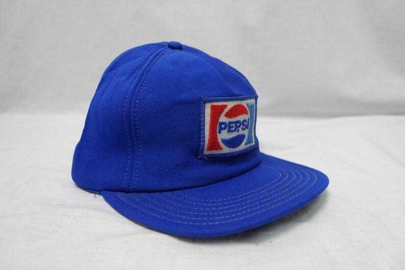 0aed249929219 Vintage PEPSI-COLA 80 s Trucker Cap Baseball Hat Snapback