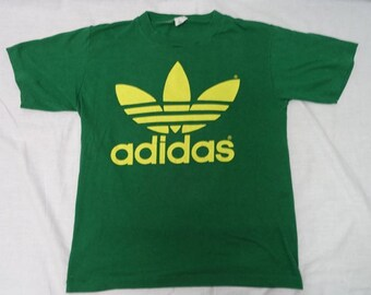 Vintage ADIDAS 80'S Trefoil Logo T-Shirt USA Made Shirt Sz-m Top