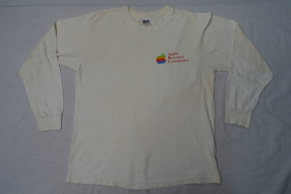 Vintage APPLE MACINTOSH 80's Long Sleeve T-shirt C