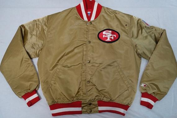 Vintage SAN FRANCISCO 49ERS Satin Starter Coat Jacket Sz-L  cfd461380f4c