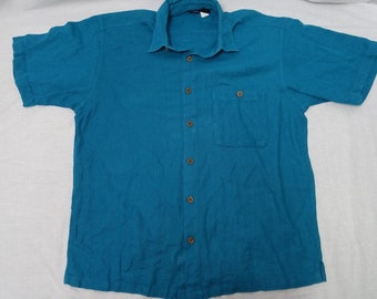 Vintage PATAGONIA 90's Cotton Button Down Shirt Sz-M Hawaiian Style