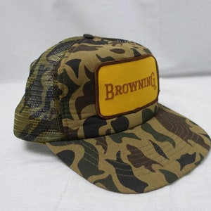 promo code b8f43 e6e94 ... coupon code for vintage browning logo patch camouflage trucker mesh cap  baseball hat snapback camo hunting