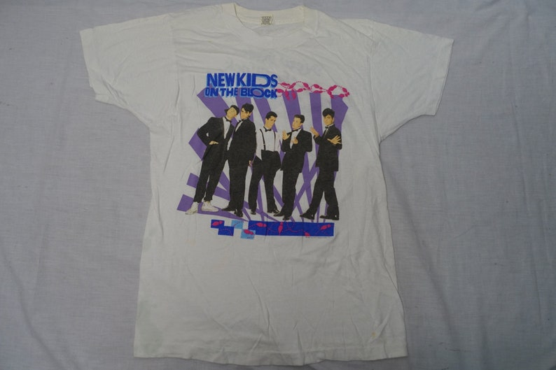 40d2b3540 Vintage NEW KIDS on the BLOCK Rock Shirt Band 80's T-shirt | Etsy