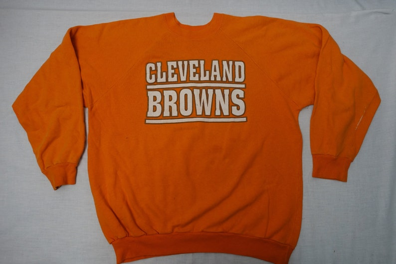 dd7d8f75 Vintage CLEVELAND BROWNS 80'S Sweatshirt NfL Football Sz-XL Shirt Top