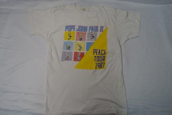 Vintage 80's POPE JOHN PAUL ii Peace Tour 1987 Sou