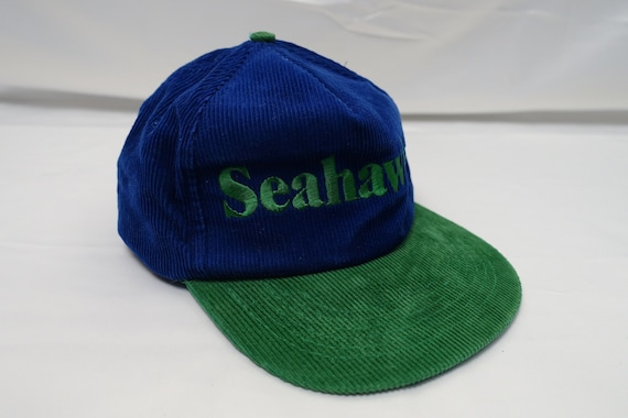 Vintage SEATTLE SEAHAWKS Corduroy 80's Snapback Tr