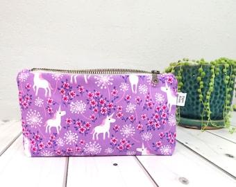 Essential Oil Bag - Unicorn - Floral Essential Oil Case, essential oil storage, zipper pouch, Oil Travel Case