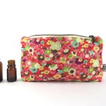 Essential Oil Case - Watercolor - cosmetic bag zipper pouch essential oil bag READY TO SHIP