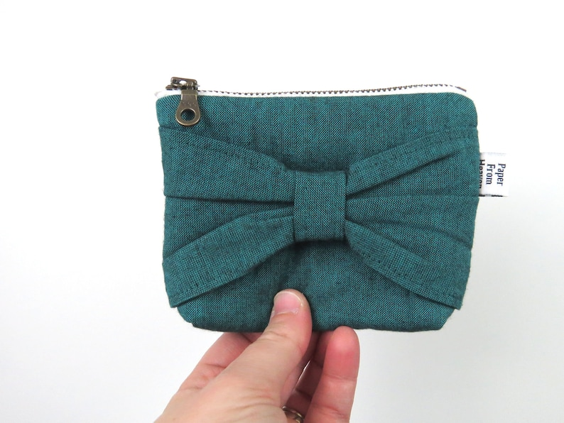 Bow Zipper Pouch ITY-BITY  Peacock  mini change pouch image 0