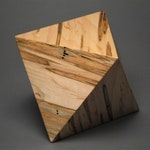 Geometric Cremation Urn for Small Human or Pet Ashes, Exotic Woods