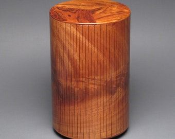 Cremation Urn for Adult Human Ashes up to 205 pounds, Crotch Mahogany