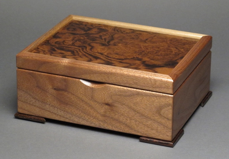 Beautifully Handmade Keepsake Box with Exotic Wood Tops image 0