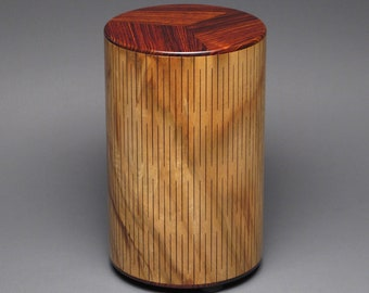 Artistic Champhorwood Urn for Adult Human Ashes up to 205 pounds