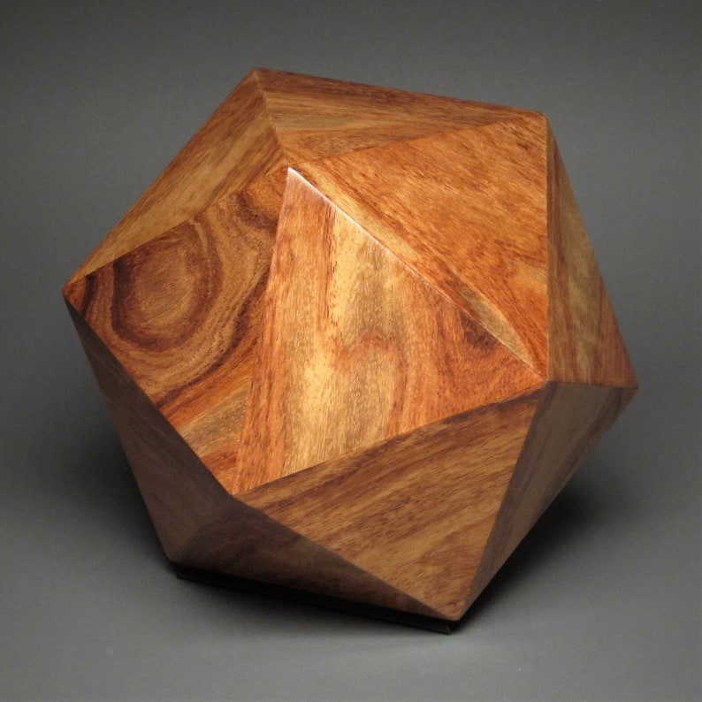 Contemporary Cremation Urn for Adult Human Ashes Rosewood